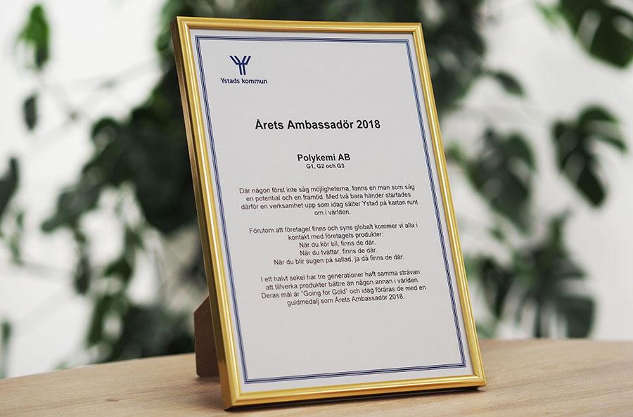 Årets Ambassadör 2018
